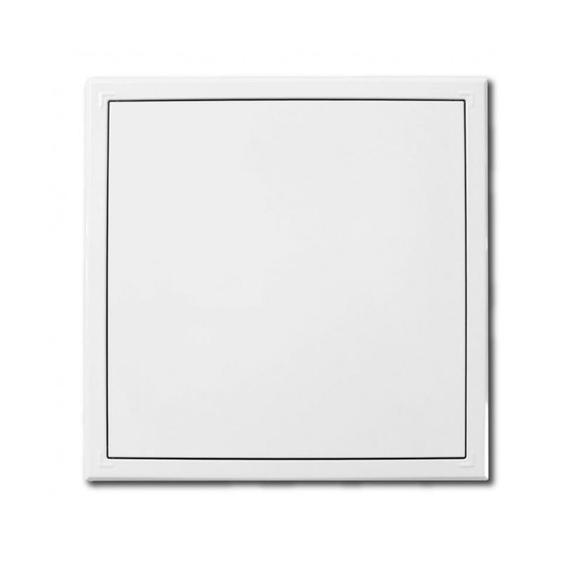 Revizní dvířka kovová 200x200 s tlačným zámkem bílá - 1