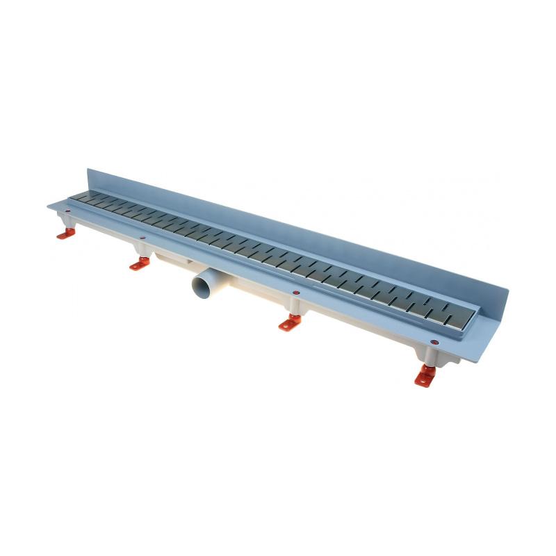 Podlahový lineární žlab ke stěně 750 mm medium mat - 1