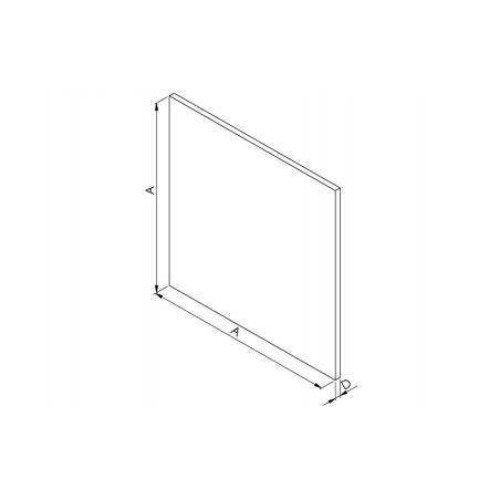 Panel skleněný černý AV DRIM - 2