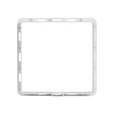 Větrací mřížka s rámečkem a síťovinou 200x200 bílá - 4