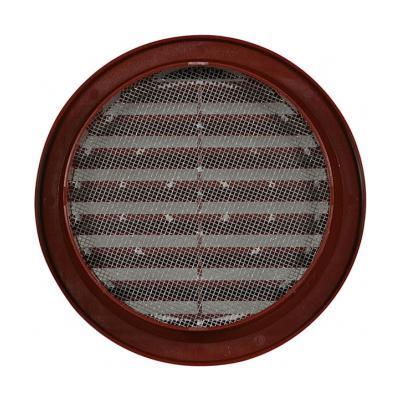 Větrací mřížka kruhová se síťovinou 100 hnědá - 2