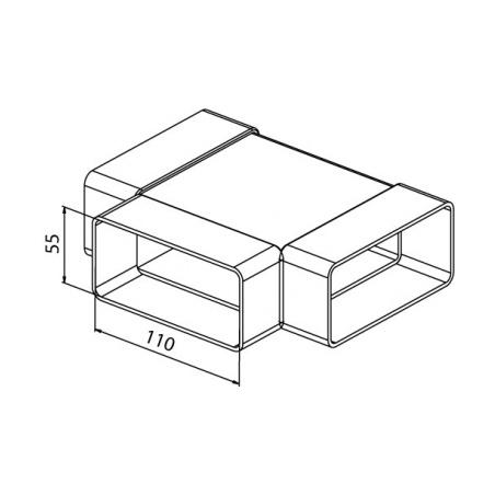 Tvarovka T plochá CTP 3x110x55 - 3