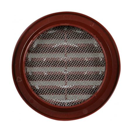 Větrací mřížka kruhová se síťovinou 75 hnědá - 2