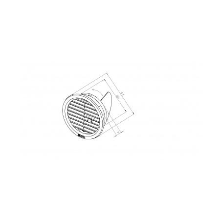Větrací mřížka kruhová uzavíratelná 125 hnědá - 1