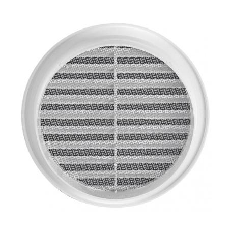 Větrací mřížka kruhová se síťovinou 125 bílá - 3