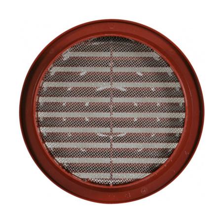 Větrací mřížka kruhová se síťovinou 125 hnědá - 2
