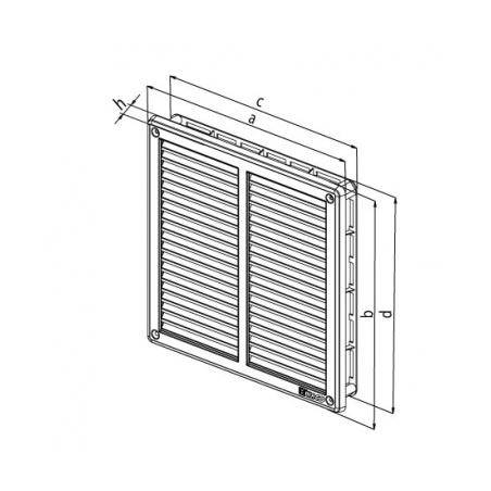 Nerezová větrací mřížka s rámečkem a síťovinou 200x200 - 2