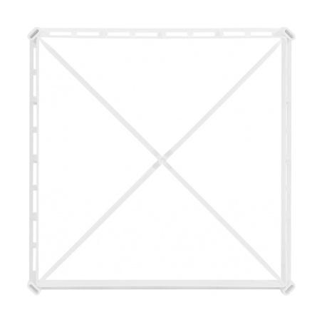 Větrací mřížka s rámečkem a síťovinou 300x300 bílá - 6