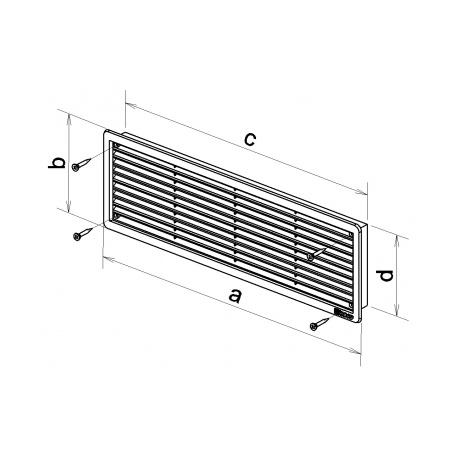 Větrací mřížka dveřní 500x90 hnědá (balení 2ks) - 3