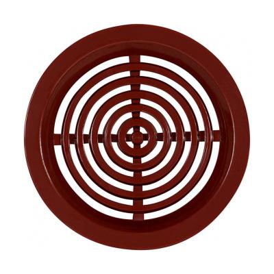 Větrací mřížka kruhová 50 hnědá (balení 4ks) - 1