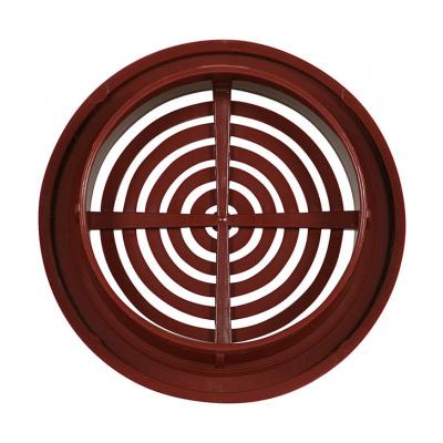 Větrací mřížka kruhová 50 hnědá (balení 4ks) - 2