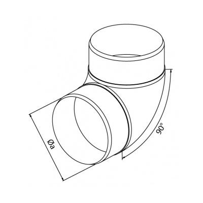 Koleno kulaté CKO 90/100 - 2