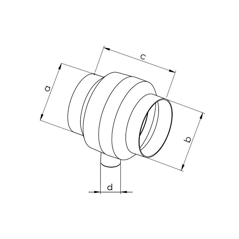 Sběrač s odvodem kondenzátu SBK 125 - 1