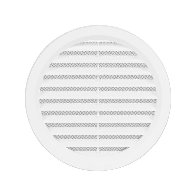 Větrací mřížka kruhová se síťovinou 140 bílá - 1