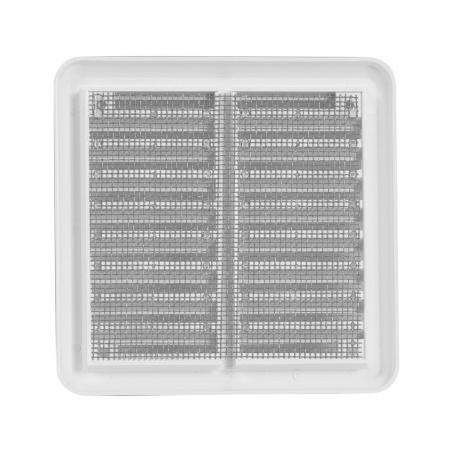 Větrací mřížka se síťovinou - krytka 100x100 bílá - 3