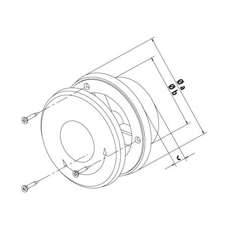 Talířový ventil s regulací prům. 125 bílá - 6
