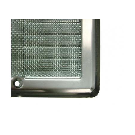 Nerezová větrací mřížka s rámečkem a síťovinou 150x150 - 6