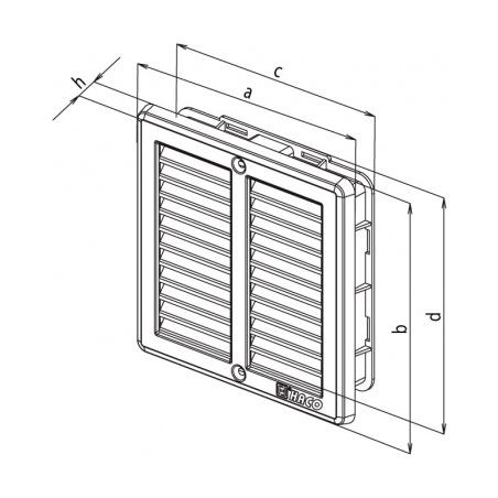 Nerezová větrací mřížka s rámečkem a síťovinou 150x150 - 7