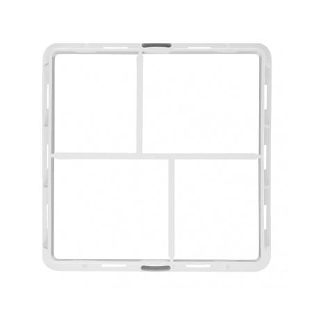 Větrací mřížka s rámečkem uzavíratelná 200x200 bílá - 2