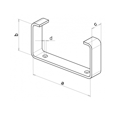 Držák kanálu UMP 110x55 (balení 2ks) - 2