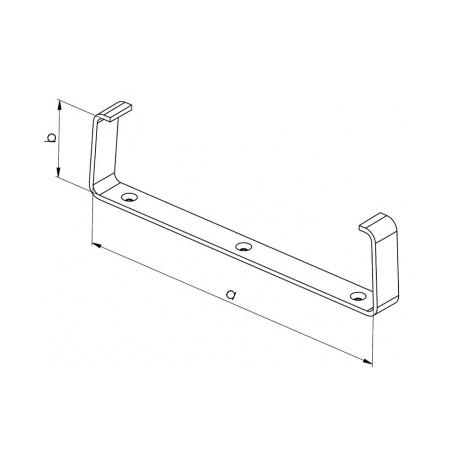 Držák kanálu UMP 220x55 (balení 2ks) - 3