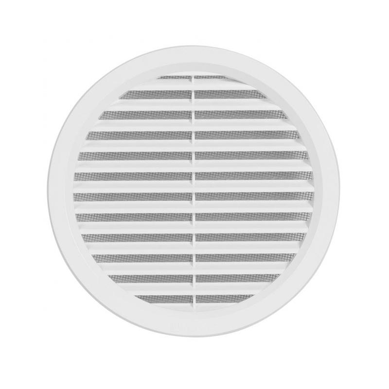Větrací mřížka kruhová se síťovinou 150 bílá - 1