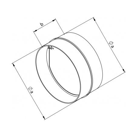 Zpětná klapka plastová ZKP 150 - 4